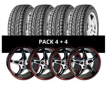 Imagen de Pack 4 Llantas Sportiva MM4 + 4 Cubiertas GT Radial 225/40 R18