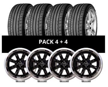 Imagen de Pack 4 Llantas RX Minilite + 4 Cubiertas GT Radial 205/40 R17