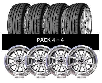 Imagen de Pack 4 Llantas RX Mini Silver + 4 Cubiertas GT Radial 205/40 R17